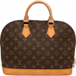 Louis Vuitton Alma cloth satchel - BROWN - STYLE