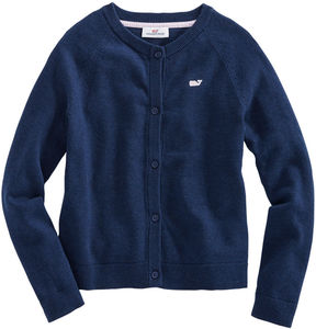 Vineyard Vines Girls Raglan Sleeve Cotton Cardigan