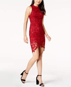 Astr Samantha High-Low Lace Dress
