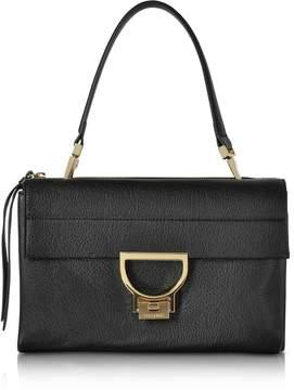 Coccinelle Black Pebbled Leather Arlettis Shoulder Bag