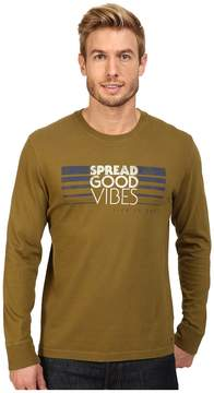 Life is Good Spread Good Vibes Stripe Long Sleeve Crusher Tee
