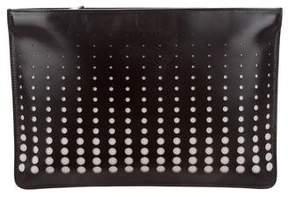 Alaia Leather Laser Cut Clutch