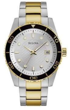 Bulova Dress Silver Dial Two-tone Men's Watch 98A198