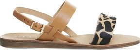 Office Honey giraffe-print sling back leather sandals