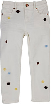 Scotch R'Belle POM-POM-EMBELLISHED JEANS