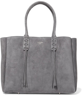 Lanvin - The Shopper Suede Tote - Gray