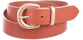Maison Margiela Metallic Buckle Leather Belt
