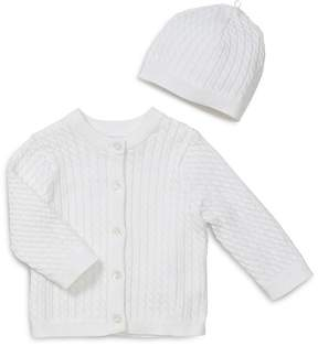 Little Me Unisex Cable-Knit Cardigan & Hat Set - Baby