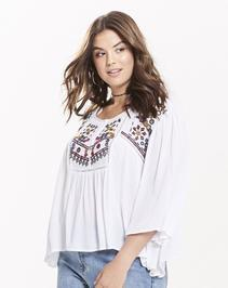 Alice & You Embroidered Smock Top