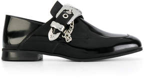 McQ buckled chain embellished loafers