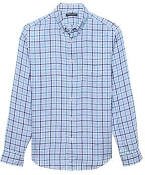 Banana Republic Camden Standard-Fit Linen Gingham Shirt