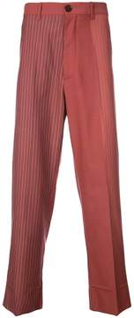 Marni panelled striped trousers
