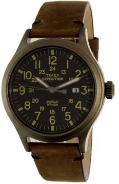 Timex Men's Expedition TW4B01700 Brown Leather Quartz Sport Watch