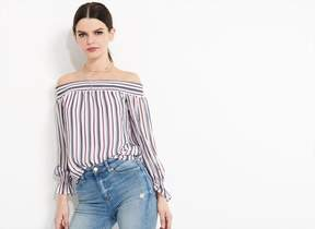 Dynamite SMOCKED OFF-THE-SHOULDER BLOUSE