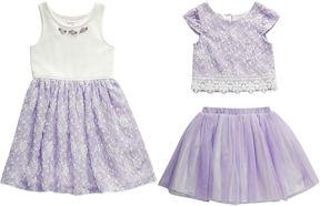 Youngland Young Land Skirt Set Toddler Girls