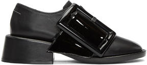 MM6 MAISON MARGIELA Black Oversized Buckle Oxfords