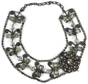 Erickson Beamon Dark Silver Crystal Statement Necklace