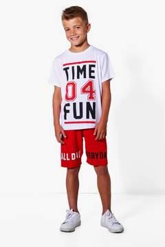 boohoo Boys Time 04 Fun Tee & Short Set