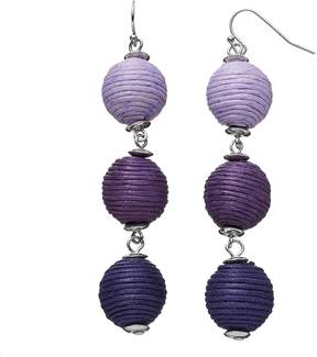 Ball Ombre Thread Wrapped Nickel Free Drop Earrings
