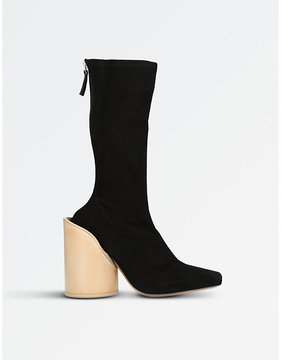 Jacquemus Saintes suede heeled ankle boots