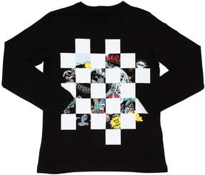 Stella McCartney Tourist Checkered Cotton Jersey T-Shirt