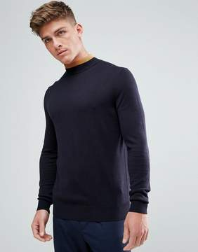 Kiomi High Neck Sweater With Contrast Neck