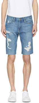 Frame Blue LHomme Cut Off Denim Shorts