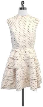 Camilla And Marc Ivory & Red Polka Dot Tiered Dress