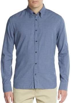 J. Lindeberg Regular-Fit Checkered Cotton Sportshirt