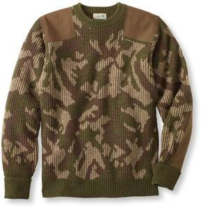 L.L. Bean L.L.Bean Commando Sweater, Camouflage Crewneck