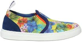 MSGM Floral Printed Cotton Canvas Sneakers