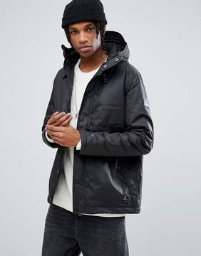 Element Freeman Wax Waterproof Jacket in Black