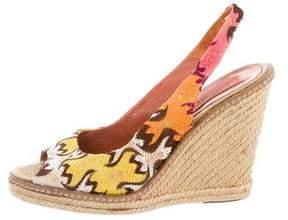 Missoni Slingback Wedge Sandals