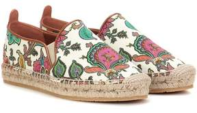Etro Leather and fabric espadrilles