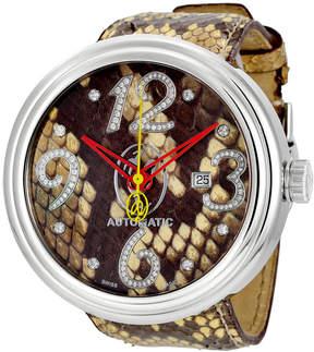 Jacob & co Valentin Yudashkin Beige Python Automatic Diamond Men's Watch