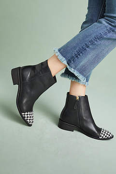 Vicenza Houndstooth Toe-Cap Boots