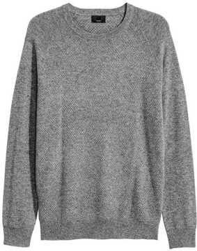H&M Textured-knit Cashmere Sweater