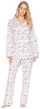 BedHead Pink Teacup Long Sleeve Long Pajama Set Women's Pajama Sets