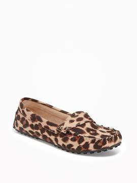 Old Navy Sueded Leopard-Print Driving Moccasins for Women