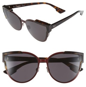 Christian Dior Women's Wildly 60Mm Cat Eye Sunglasses - Havana/ Brown/ Green/ Havana