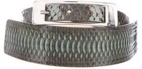 Maison Margiela Python Buckle Belt
