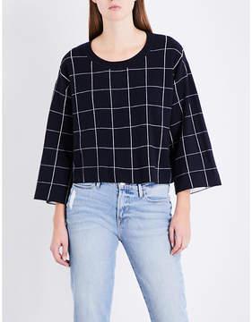Claudie Pierlot Grid knitted sweatshirt