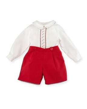 Luli & Me Smocked Shirt w/ Shorts, Size 3-24 Months