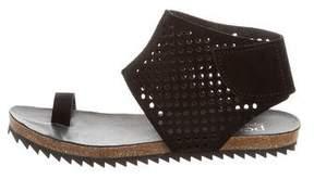 Pedro Garcia Perforated Suede Sandals