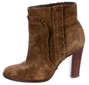 Tila March Fringed Suede Ankle Boots