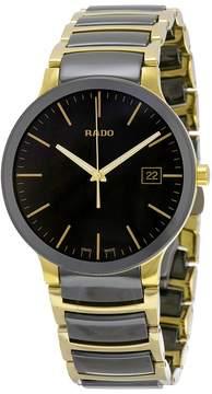 Rado Centrix Black Dial Gold PVD Black Ceramic Men's Watch