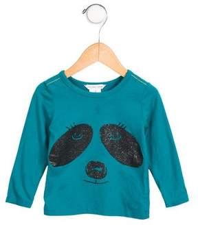 Little Marc Jacobs Girls' Glitter-Accented Panda Top