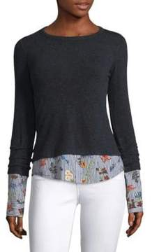 Bailey 44 Combination Sweater And Floral Shirt