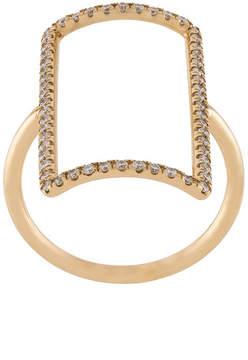 Diane Kordas diamond rectangle outline ring
