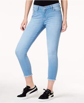 Celebrity Pink Juniors' Raw-Hem Skinny Jeans